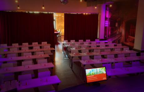 Theaterraum von der Bühne aus